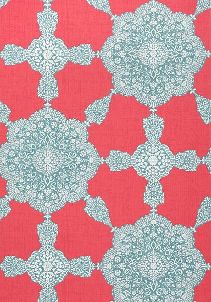 Paisley flower wallpaper
