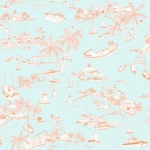 Nautical tropical wallpaper