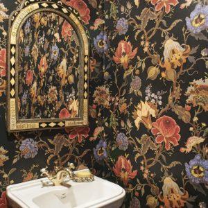 Modern exotic floral wallpaper
