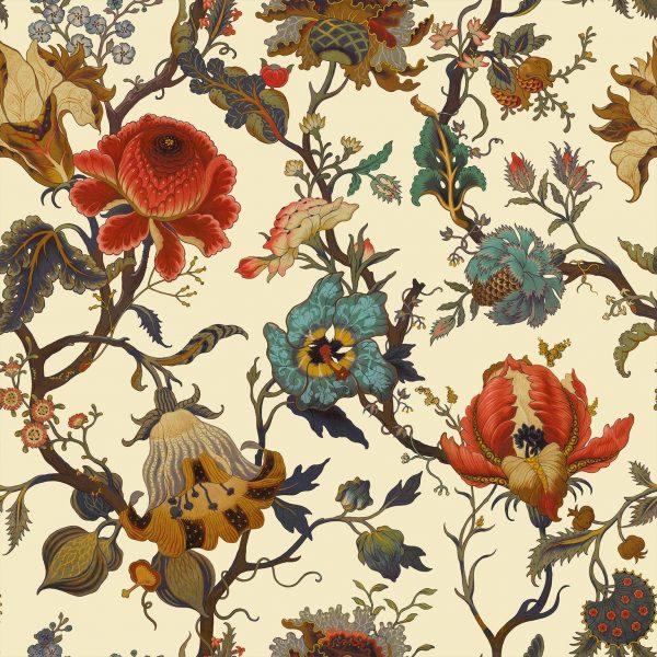 Exotic floral wallpaper