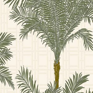 bamboo & palm tree wallpaper