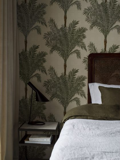 Palm tree & bamboo wallpaper