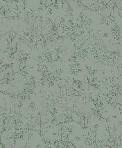 Green forest animal wallpaper