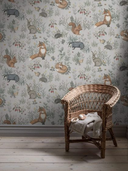 Kids forest animal wallpaper