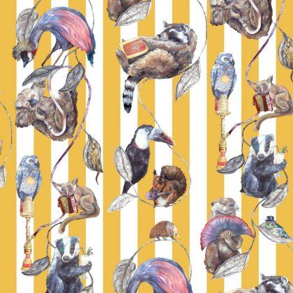 Modern animal stripe wallpaper