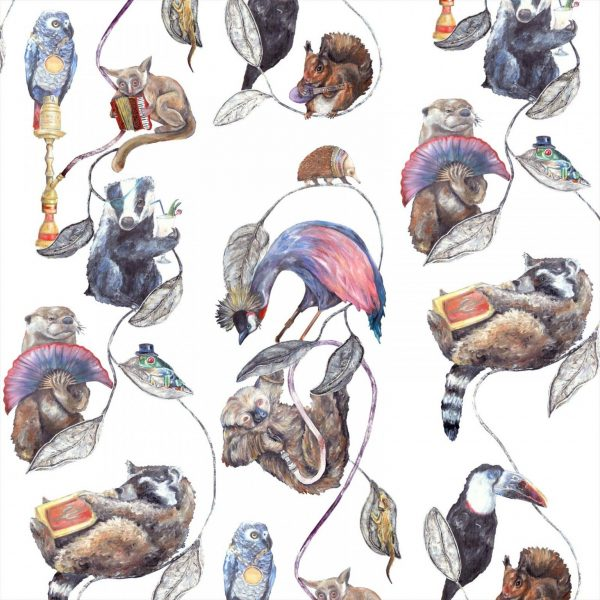 Modern animal fun wallpaper