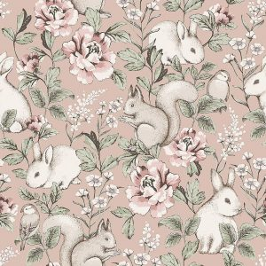 forest animals and bird wallpaper