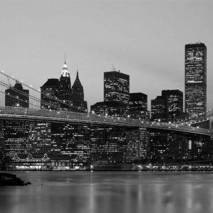 Cityscape NYC mural