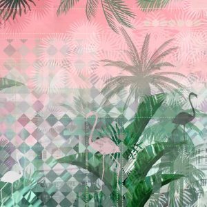 Miami flamingo wallpaper