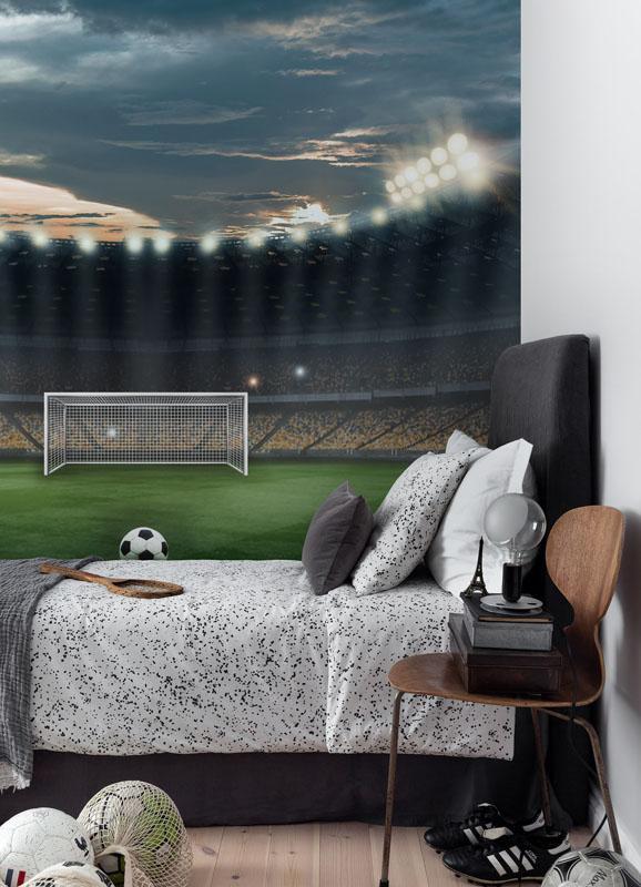 Soccer football stadium mural