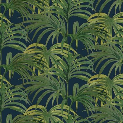 black palm leaf wallpaper