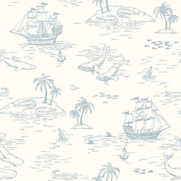 Kids cute nautical wallpaper