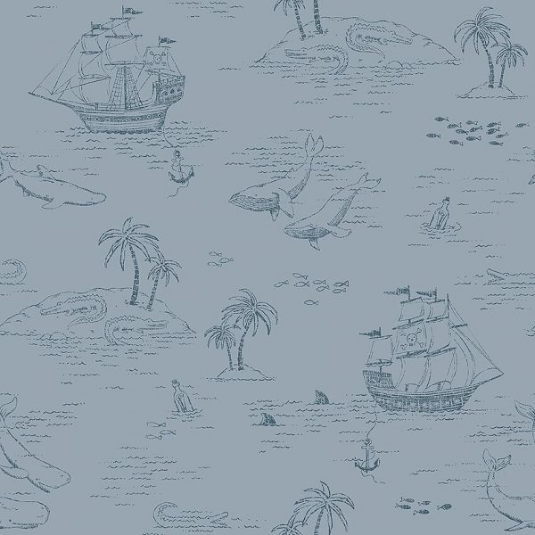 Cute kids nautical wallpaper