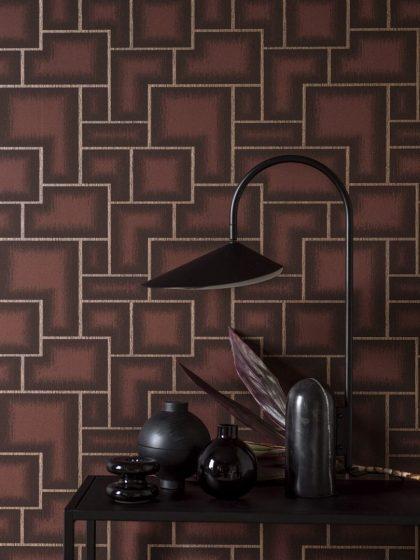 Retro geometric wallpaper