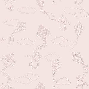 Bunny & kits pink wallpaper