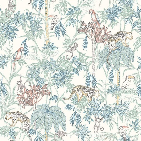 Kids jungle animal wallpaper