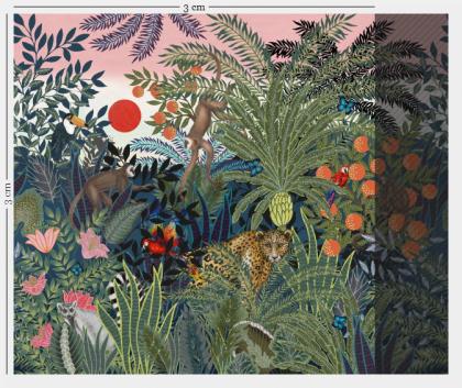 Kids jungle wallpaper mural